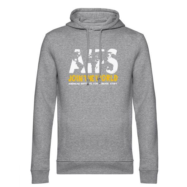 Boys Organic Hooded Sweatshirt, heather grey, WORLD