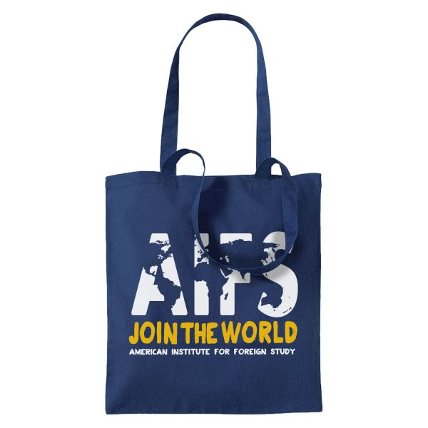 Cotton Bag, navy, WORLD