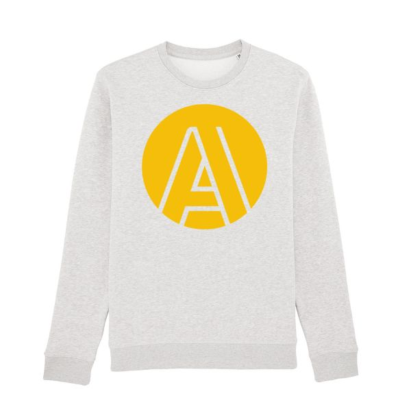 "Unisex Sweatshirt, heather ash, ""A"""