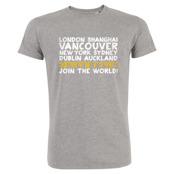 Boys Organic T-Shirt, heather grey, CITY