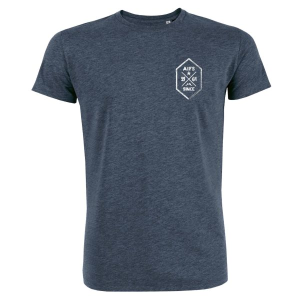 Boys Premium T-Shirt, dark heather blue, BUTTON