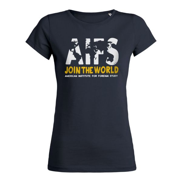 Girls Basic T-Shirt, navy, WORLD