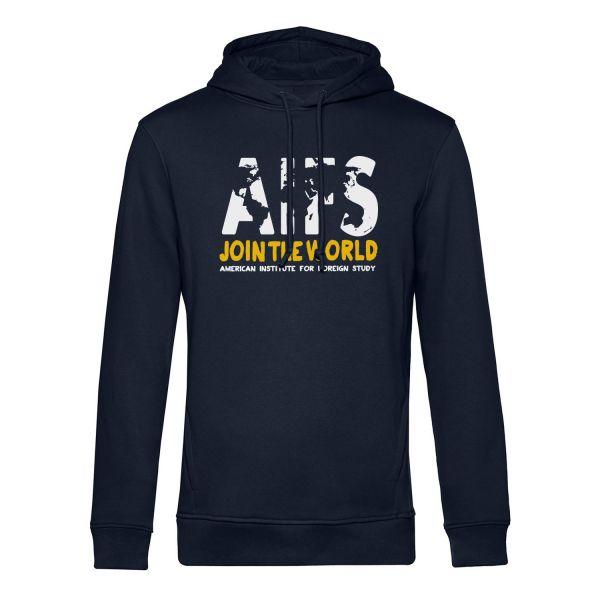 Boys Organic Hooded Sweatshirt, navy, WORLD